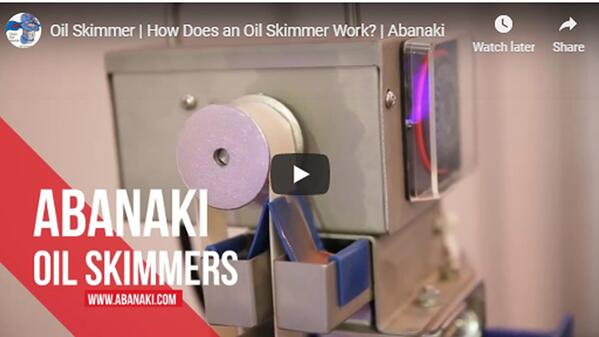 Abanaki oil skimmer applications video